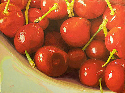 Painting - Cherries A La Carder by Kathy Lumsden