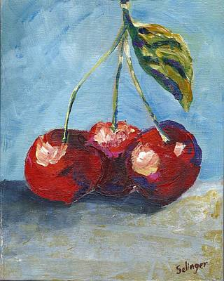 Painting - Cherries By Three by Kathie Selinger