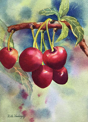 Painting - Cherries by Hilda Vandergriff