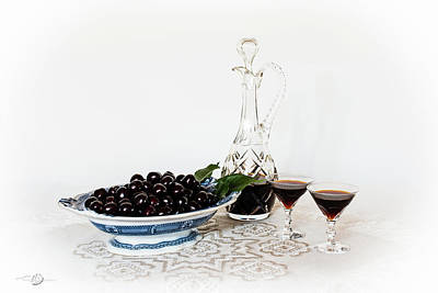 Photograph - Cherries In An Old Fashion Way - A Still Life by Torbjorn Swenelius