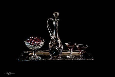 Photograph - Cherries In An Old Fashion Way In Black - A Still Life by Torbjorn Swenelius