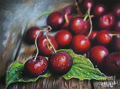 Painting - Cherries by Lachri