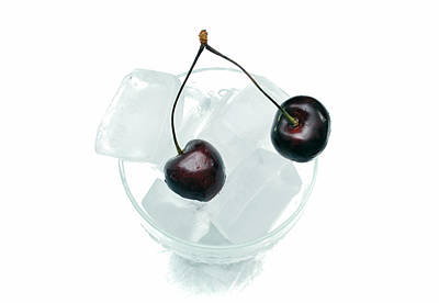 Photograph - Cherries On Ice. by Terence Davis