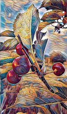 Digital Art - Cherries On Top by Caryl J Bohn