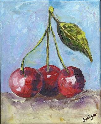 Painting - Cherries One Two Three by Kathie Selinger