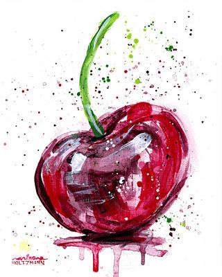 Cherry 2 Art Print by Arleana Holtzmann