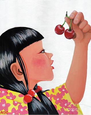 Painting - Cherry by Akiko Okabe