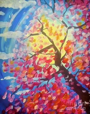 Tony B. Conscious Painting - Cherry Autumn In The Wind by Tony B Conscious