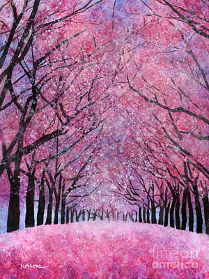 Sakura Painting - Cherry Blast by Hailey E Herrera