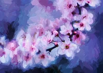 Digital Art - Cherry Blossom 3 by Charmaine Zoe