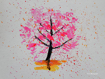 Painting - Cherry Blossom by Dick Bourgault
