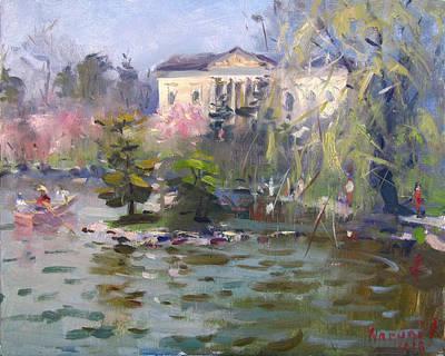 Cherry Tree Painting - Cherry Blossom Festival Buffalo by Ylli Haruni