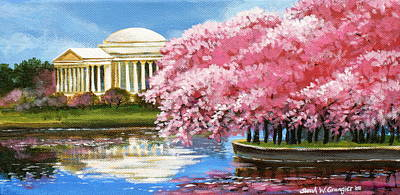 Cherry Blossoms Painting - Cherry Blossom Festival by Sarah Grangier