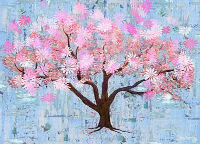 Cherry Blossom Flowering Art Art Print