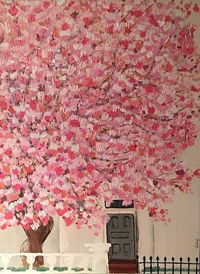 Acryllic Painting - Cherry Blossom  by Kimberly A P