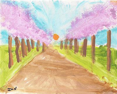 Painting - Cherry Blossom Lane by Ian Reynolds