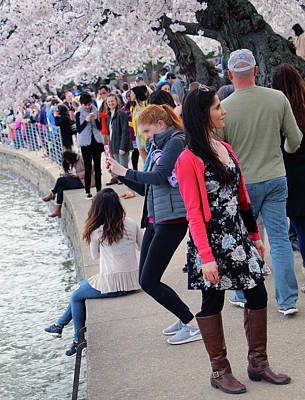 Photograph - Cherry Blossom People by Cora Wandel