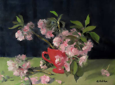 Painting - Cherry Blossom Remnants by Robert Holden