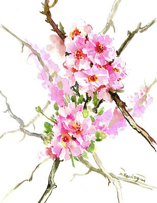 Cherry Blossoms Painting - Cherry Blossom by Suren Nersisyan