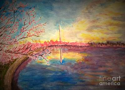 Painting - Cherry Blossom Time by Anne Sands