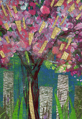 Mixed Media - Cherry Blossom Too by Paper Jewels By Julia Malakoff