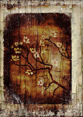 Painting - Decorative Cherry Blossom Tree Dl002 by Mas Art Studio