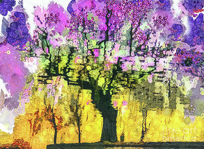 Mixed Media - Cherry Blossom Tree In Spring by Daliana Pacuraru