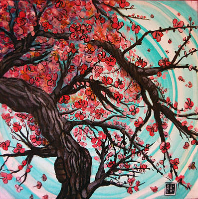 Painting - Cherry Blossom Tree by Katerina Roy