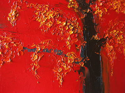 Painting - Cherry Blossom Tree - Red Yellow by Patricia Awapara