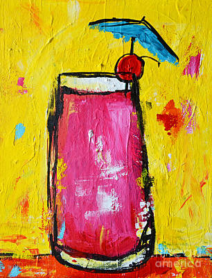Painting - Cherry Blossom - Tropical Drink by Patricia Awapara