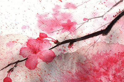 Painting - Cherry Blossoms 1 by Sean Seal