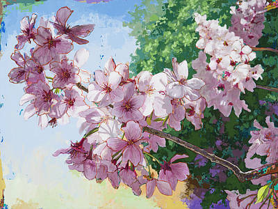 Painting - Cherry Blossoms #2 by David Palmer