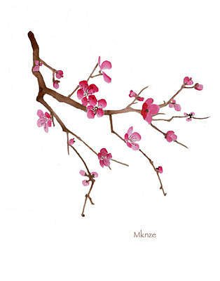 Cherry Blossoms Painting - Cherry Blossoms 2c by McKenzie Leopold