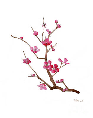 Cherry Blossoms Painting - Cherry Blossoms 2f by McKenzie Leopold