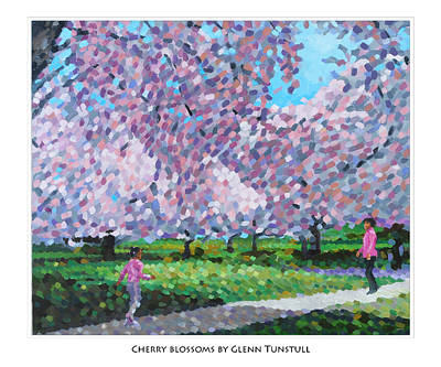 Painting - Cherry Blossoms Poster by Glenn Tunstull