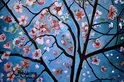 Cherry Blossoms Painting - Cherry Blossoms In Bloom by Elizabeth Robinette Tyndall