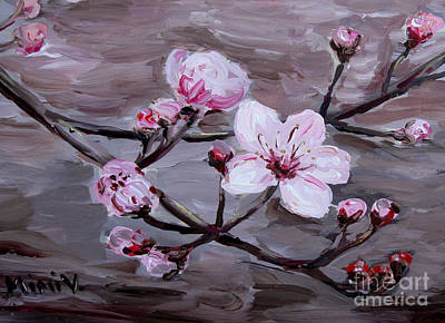 Painting - Cherry Blossoms by Maria Langgle