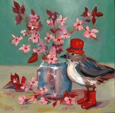 Painting - Cherry Blossoms by Susan Thomas