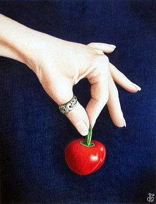 Drawing - Cherry Bomb by Danielle R T Haney