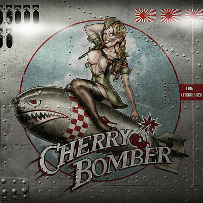 Cherry Bomber Art Print