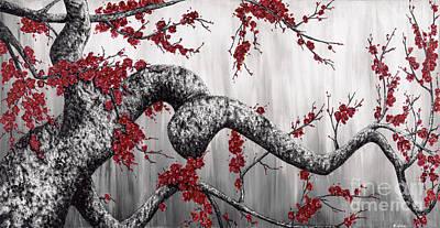 Cherry Blossoms L Original by Melissa Gates