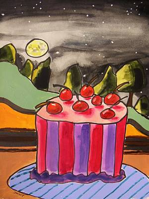 Painting - Cherry Cake Under The Stars by John Williams