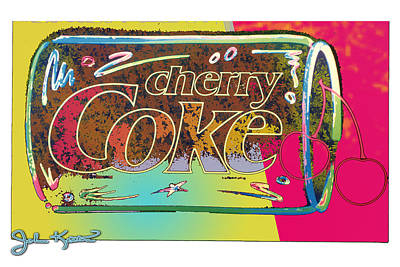 Johnkeaton Digital Art - Cherry Coke 1 by John Keaton
