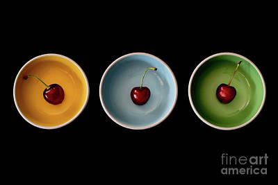 Photograph - Cherry Color Block Experiment by Giovanni Malfitano