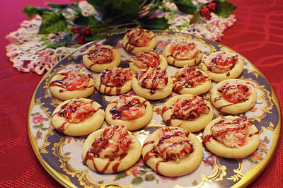 Photograph - Cherry Creamcheese Shortbread Cookies by Adria Trail