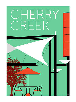 Digital Art - Cherry Creek Aqua by Sam Brennan