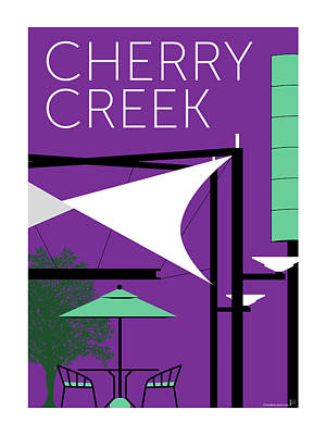 Digital Art - Cherry Creek Purple by Sam Brennan