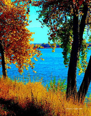 Photograph - Cherry Creek Reservoir - Paintograph by Christine S Zipps