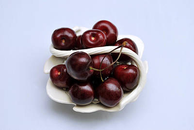Photograph - Cherry Dish by Terence Davis