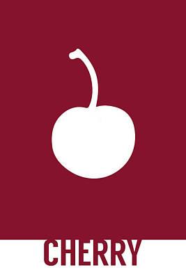 Cherry Food Art Minimalist Fruit Poster Series 013 Art Print by Design Turnpike